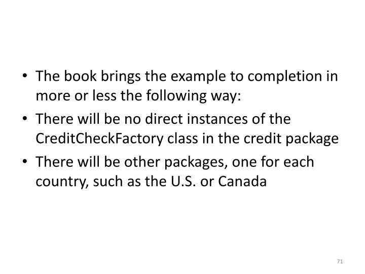 The book brings the example to completion in more or less the following way: