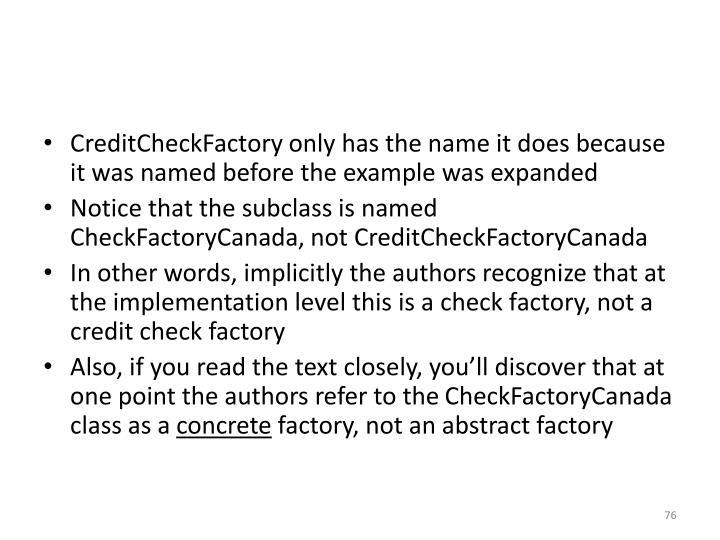 CreditCheckFactory