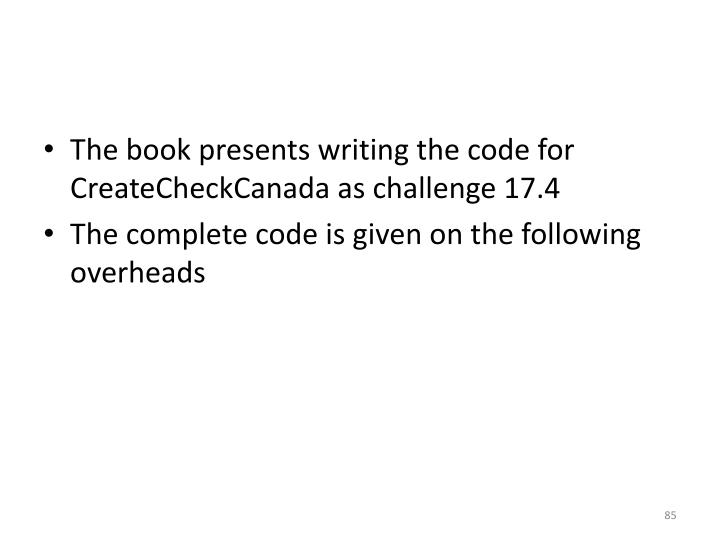 The book presents writing the code for