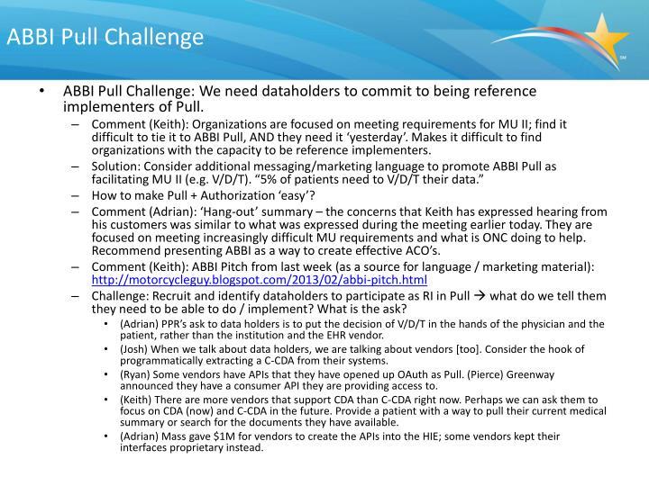 ABBI Pull Challenge