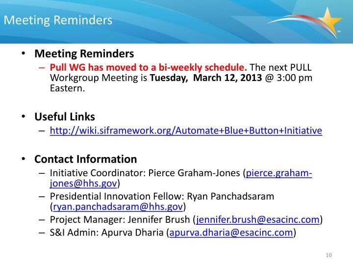 Meeting Reminders