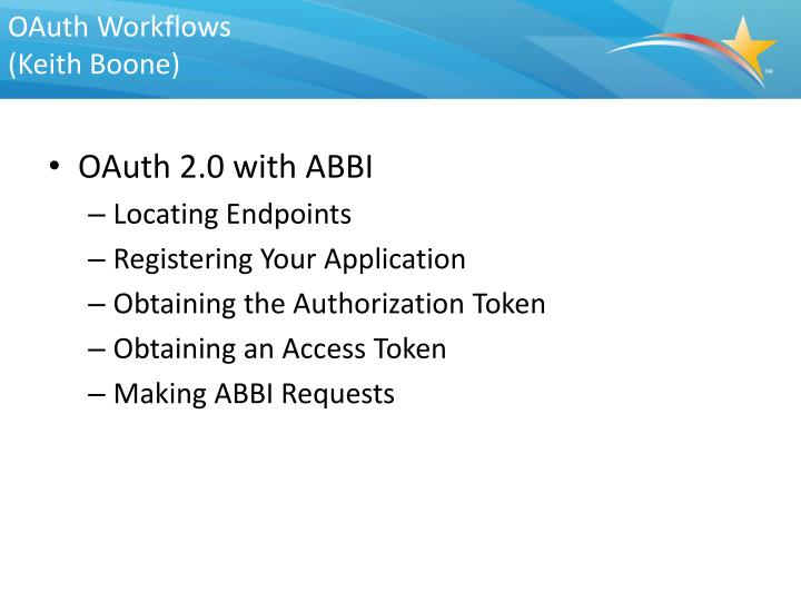 OAuth Workflows