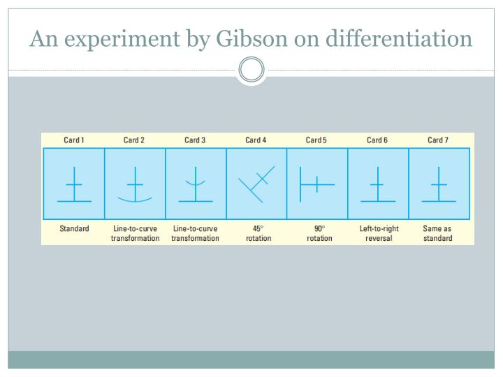 An experiment by Gibson on differentiation
