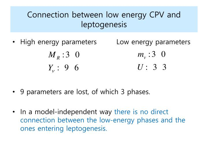 Connection between low energy CPV and leptogenesis