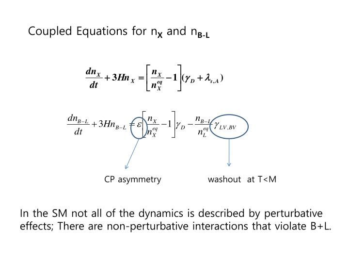 Coupled Equations for n
