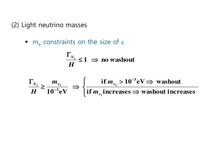 (2) Light neutrino masses