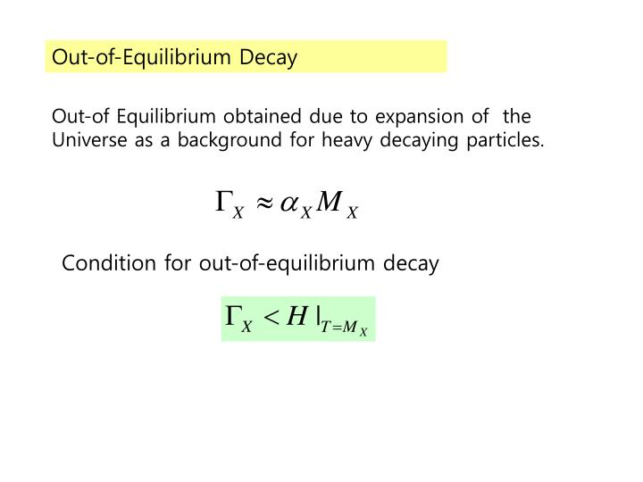 Out-of-Equilibrium Decay