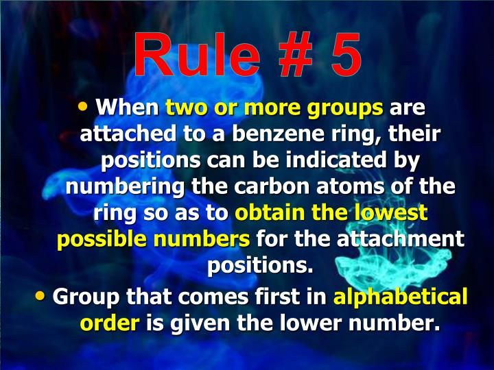 Rule # 5