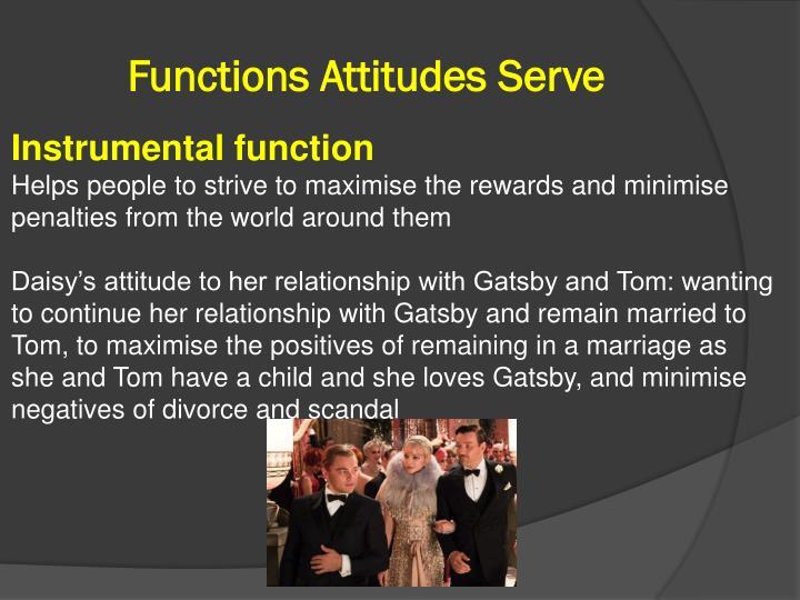 Functions Attitudes Serve