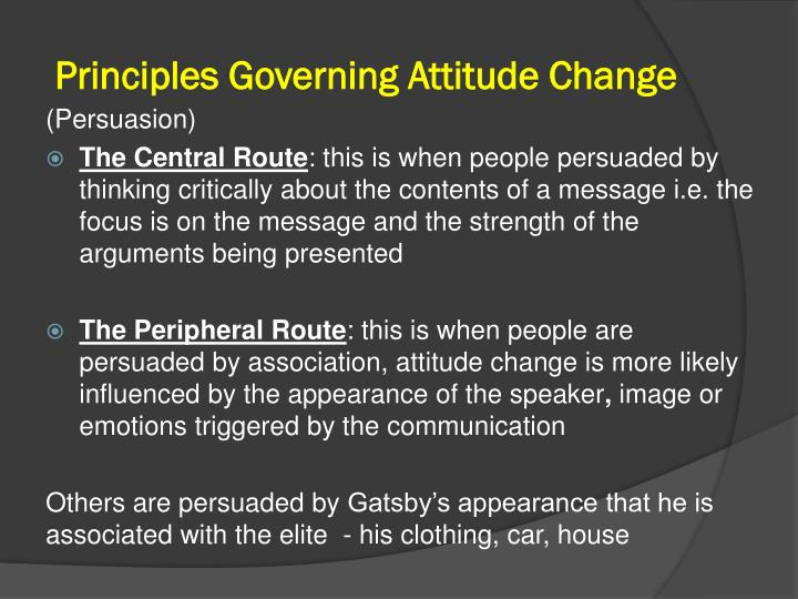 Principles Governing Attitude Change