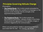 principles governing attitude change