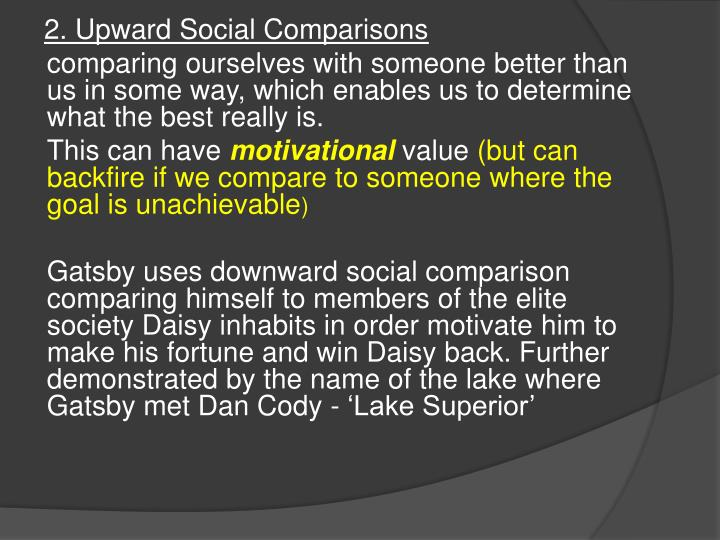 2. Upward Social Comparisons