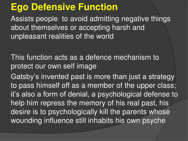 Ego Defensive Function