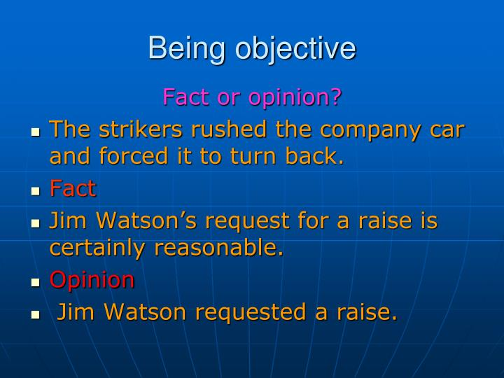 Being objective