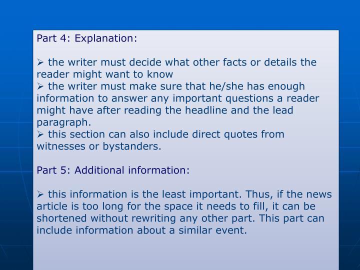Part 4: Explanation: