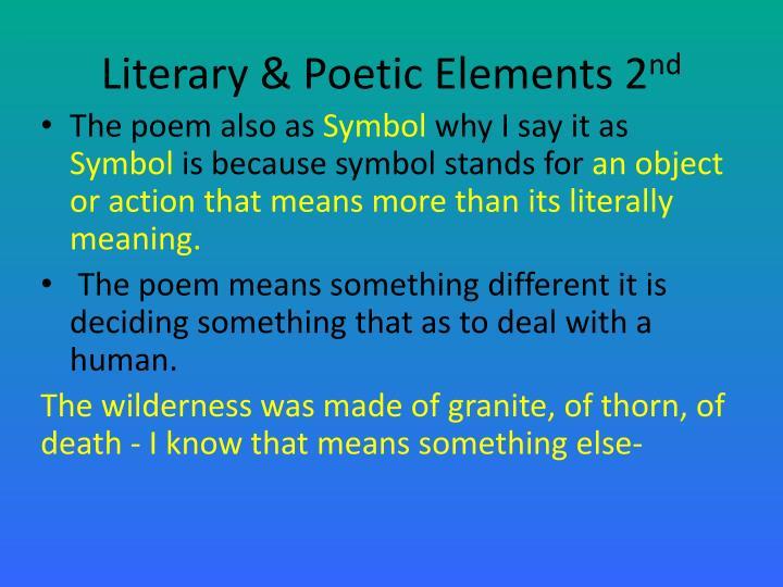 Literary & Poetic