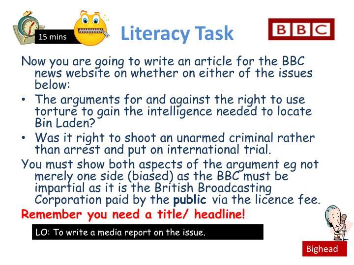 Literacy Task