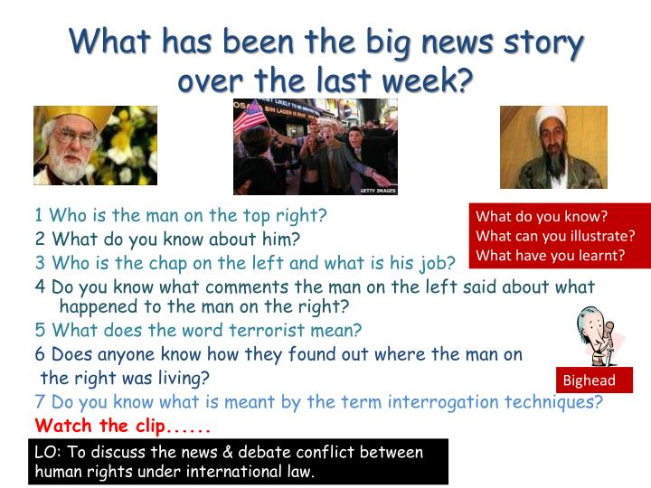 What has been the big news story over the last week?