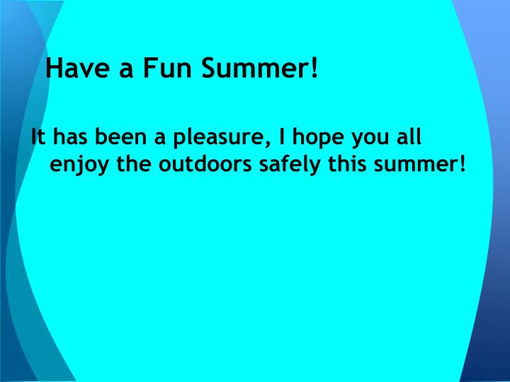 Have a Fun Summer!