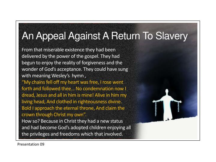 An Appeal Against A Return To Slavery