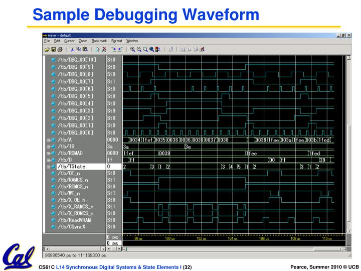Sample Debugging Waveform