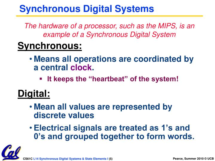 Synchronous Digital Systems