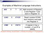 examples of machine language instructions