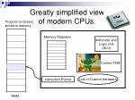 greatly simplified view of modern cpus