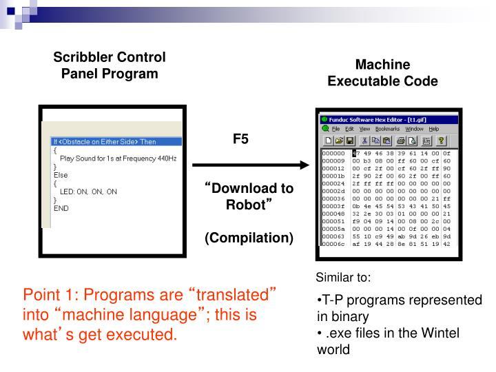 Scribbler Control Panel Program