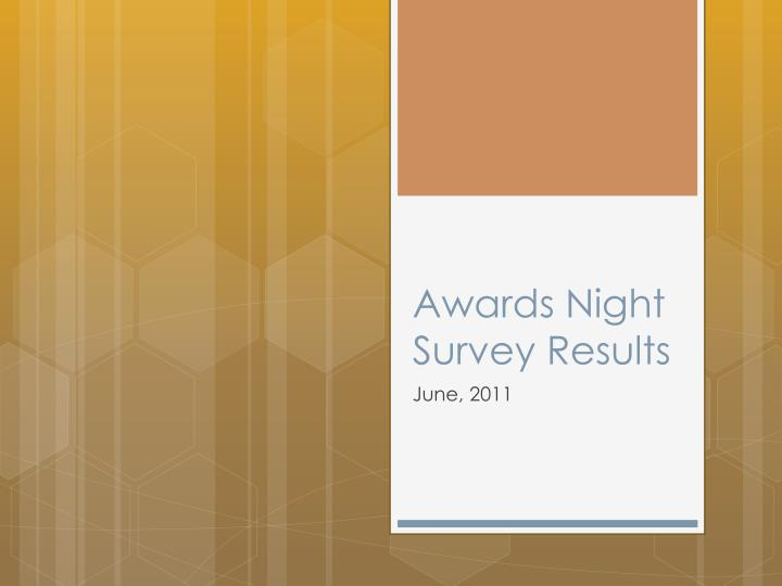 Awards night survey results