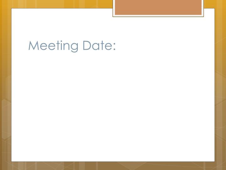 Meeting Date: