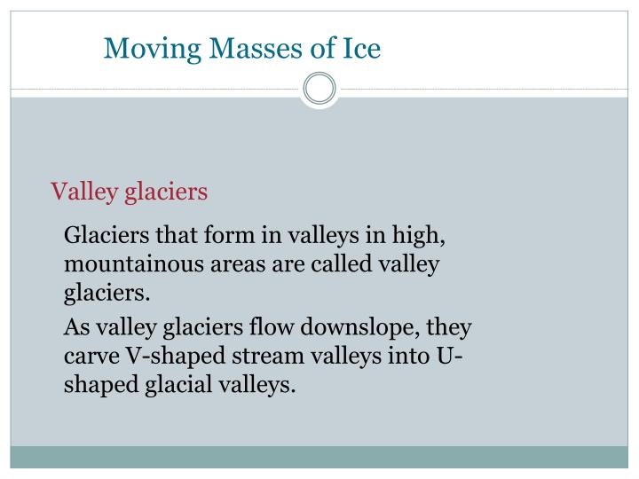 Moving Masses of Ice