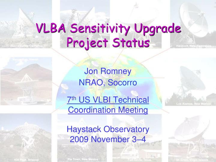 Vlba sensitivity upgrade project status