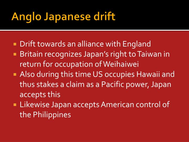 Anglo Japanese drift