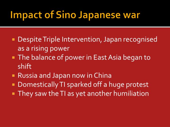 Impact of Sino Japanese war