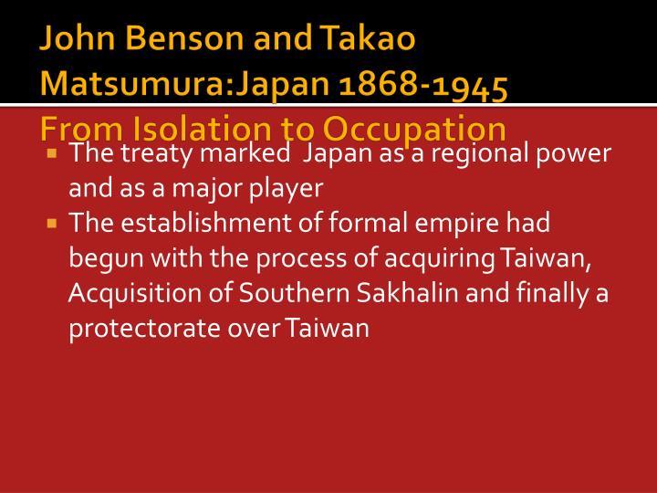 John Benson and Takao