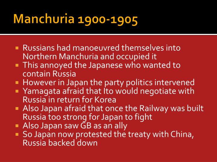 Manchuria 1900-1905