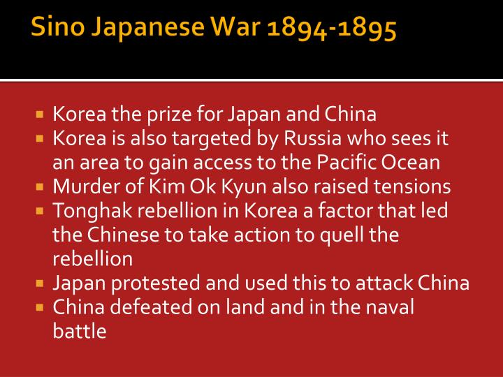 Sino Japanese War 1894-1895