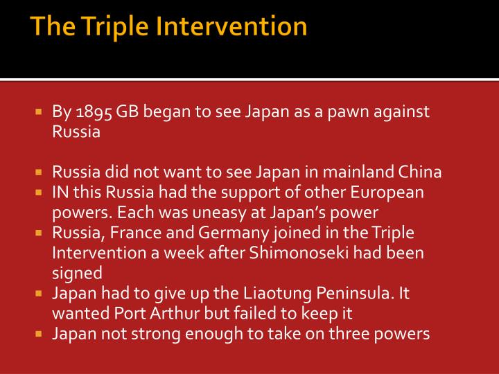 The Triple Intervention