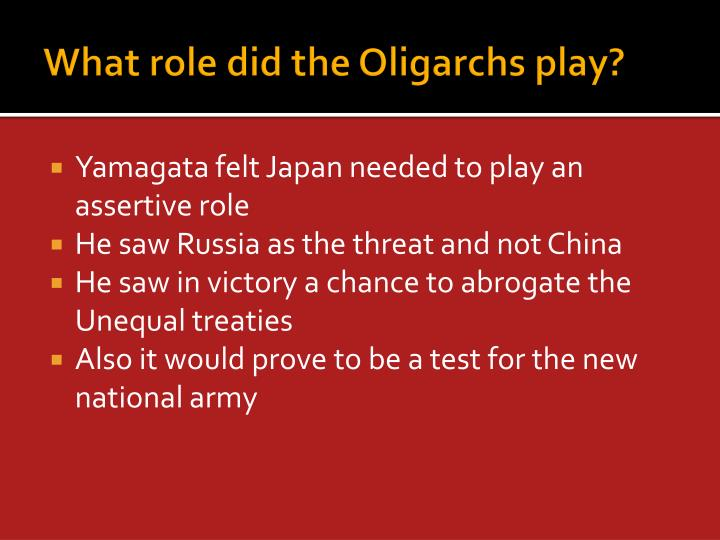 What role did the Oligarchs play?