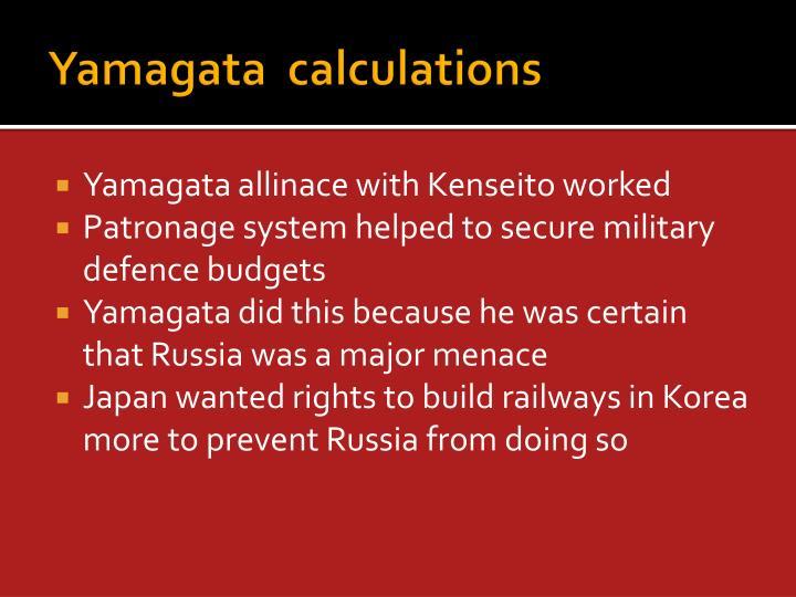 Yamagata  calculations