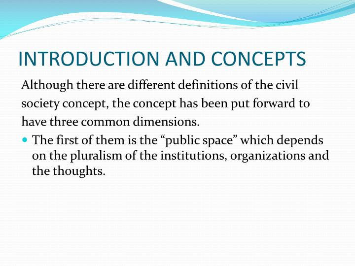 INTRODUCTION AND CONCEPTS