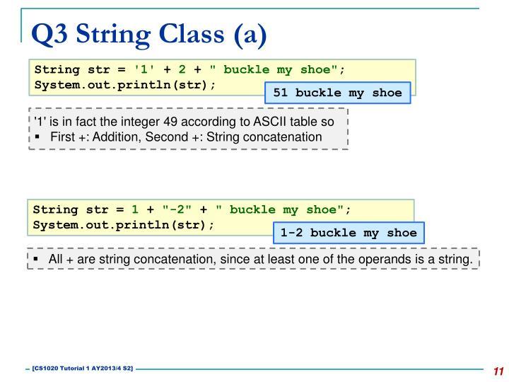 Q3 String Class (a)