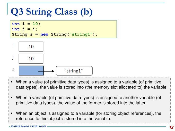 Q3 String Class (b)