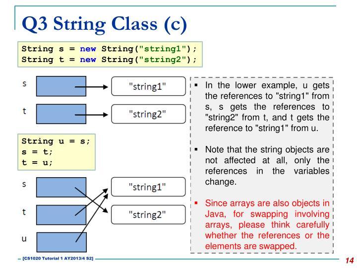 Q3 String Class (c)