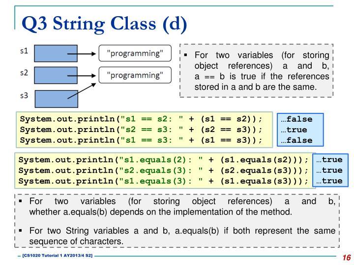 Q3 String Class (d)