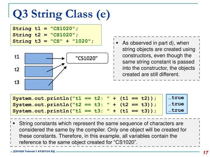 Q3 String Class (e)