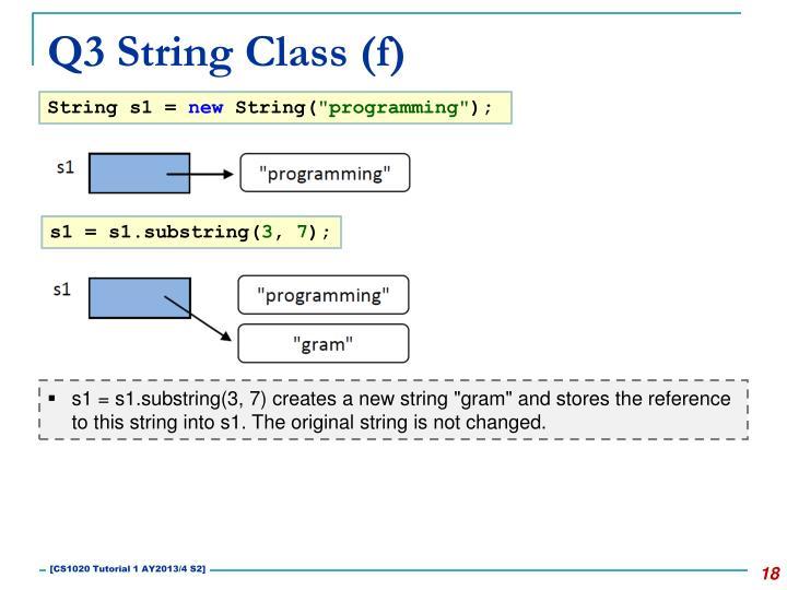Q3 String Class