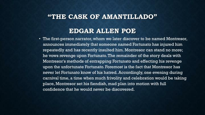 The cask of amantillado edgar allen poe