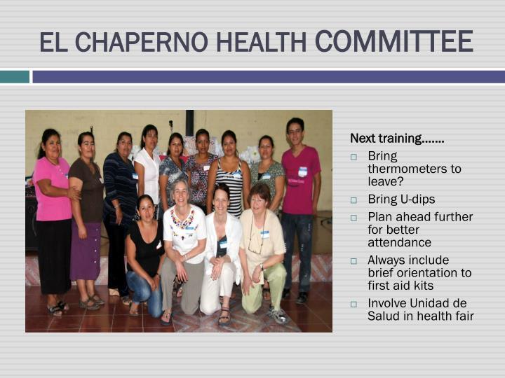 EL CHAPERNO HEALTH